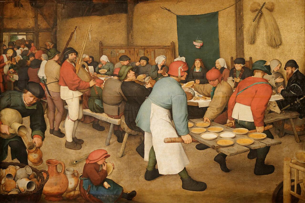 Le repas de noce par Pieter Brueghel l'Ancien
