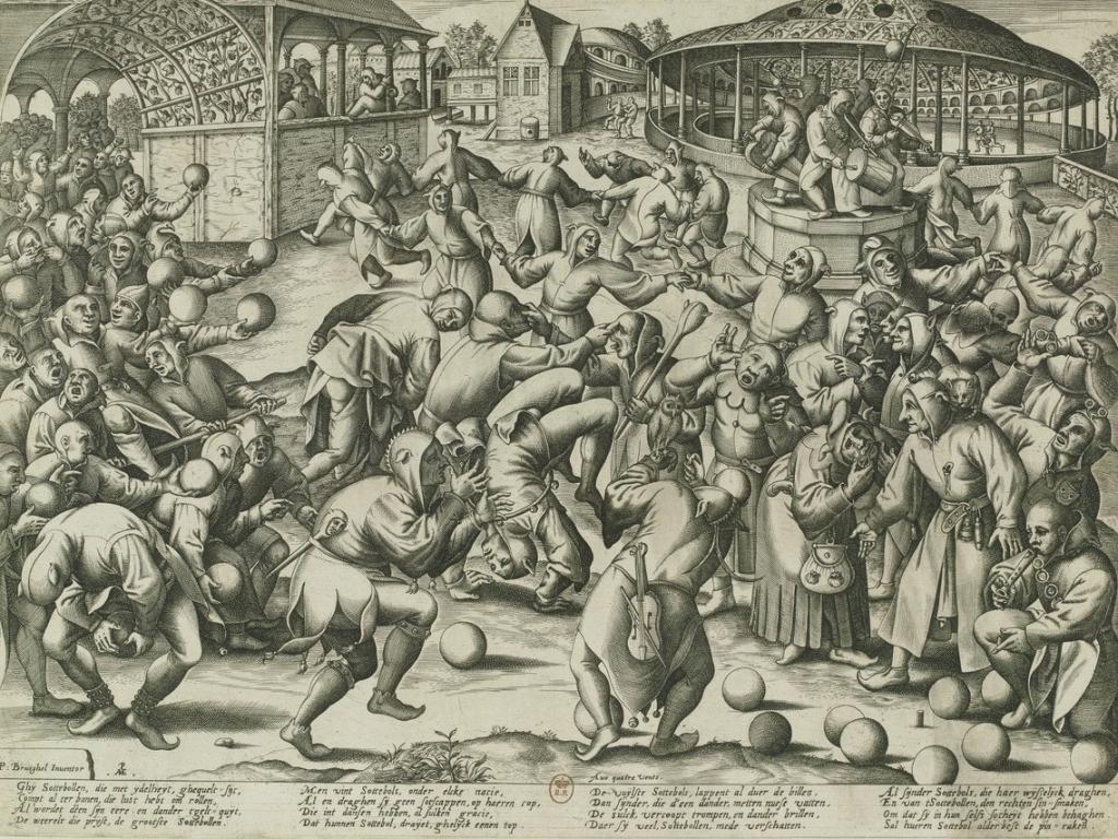 La fête des fous, estampe de PieterVan Der Heyden
