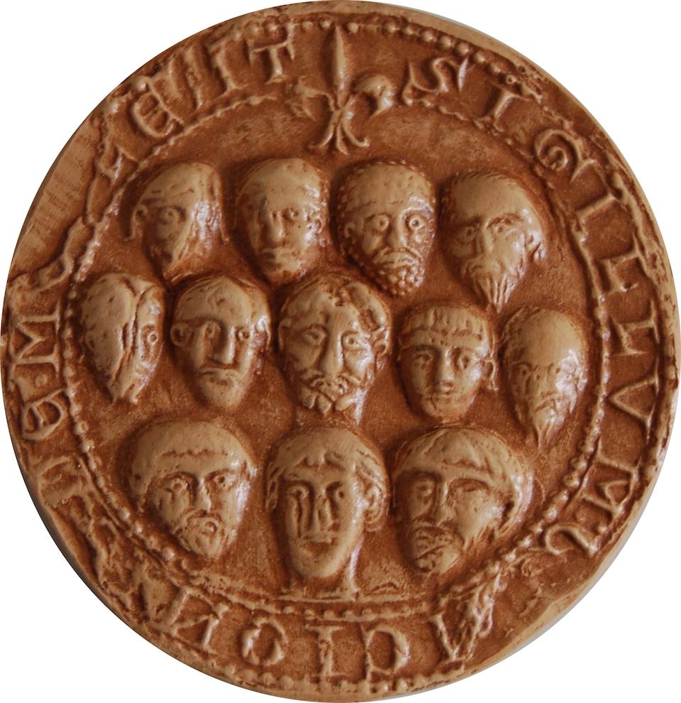 Grand sceau de la commune de Meulan, 1195